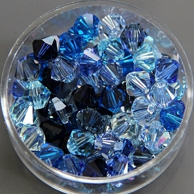 MIX-BLAU Swarovski 6 mm
