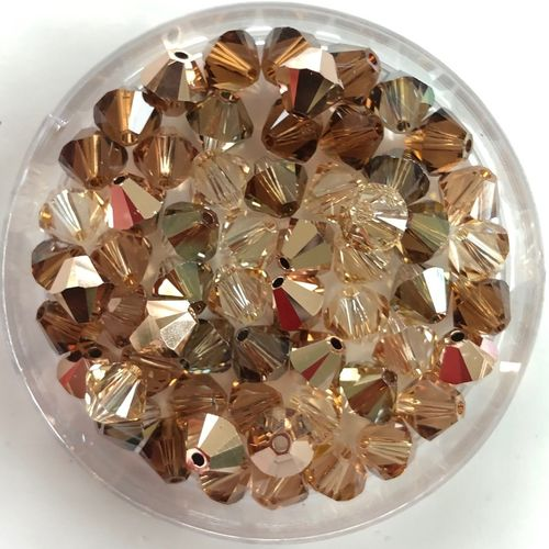 MIX-GOLD-BRAUN Swarovski 6 mm